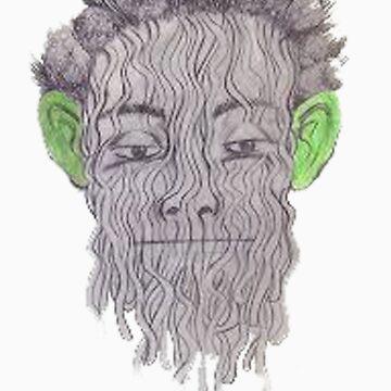 True Detective - 'Green Eared Spaghetti Monster' by Damundio
