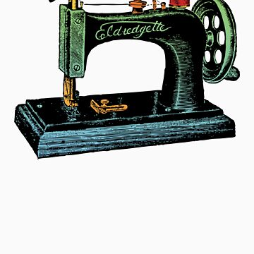 Vintage Sewing Machine Illustration by flobaby