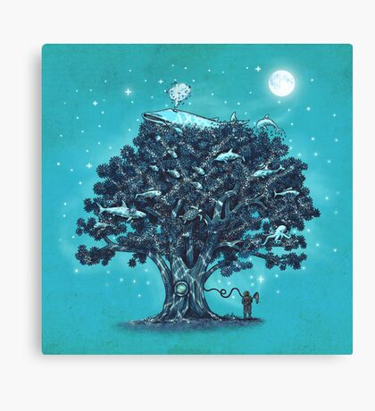 Deep Tree Diving  Canvas Print