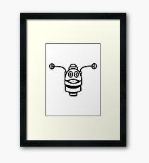 Funny cool robot head funny comic Framed Print