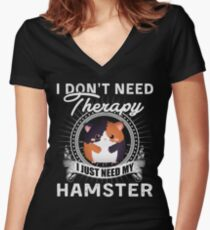 HAMSTER Women's Fitted V-Neck T-Shirt
