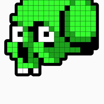 8 Bit Skull - Green by tpbiv