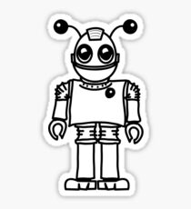 Cool funny robot toy fun Sticker