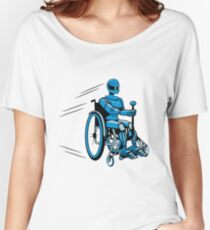 Cool funny robot wheelchair funny Women's Relaxed Fit T-Shirt