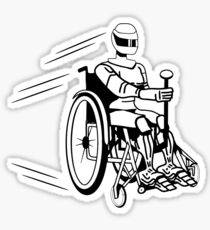 Cool funny robot wheelchair funny Sticker
