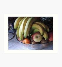 Still life: Fruit Bowl Art Print