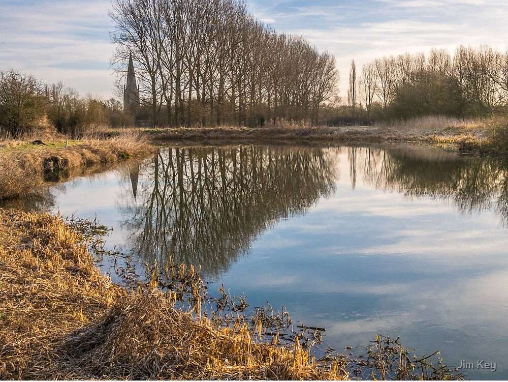 Reflection of Olney Meadows by Jim Key