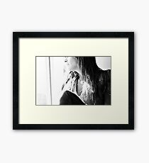 Self Portrait....Someday soon the sun is gonna shine.. Framed Print