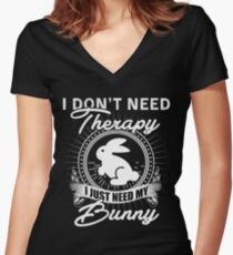 Bunny Women's Fitted V-Neck T-Shirt