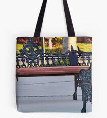 Dueling Benches Tote Bag