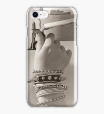 Black and white mailbox iPhone Case/Skin