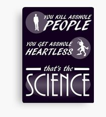 Fandom Hearts - That's The Science Canvas Print