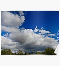 """Desert Clouds"" Scottsdale, Arizona Poster"