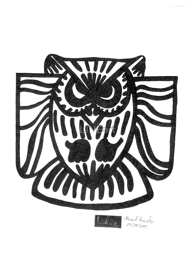 LINE : Owl by LINEart