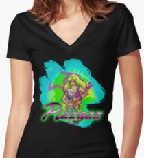 Pizzazz from the Misfits Women's Fitted V-Neck T-Shirt