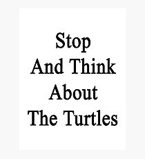 Stop And Think About The Turtles  Photographic Print