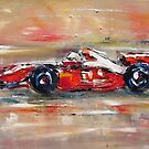 Formula 1 race car by artistpixi