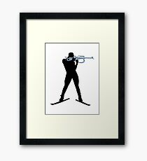 Biathlon sports Framed Print