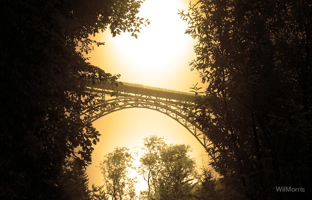 Sepia Müngsten Bridge by WilMorris