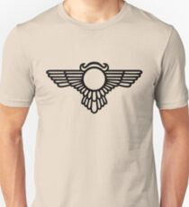 Winged Globe, Symbol of the perfected soul, Egyptian Sun Disc  T-Shirt