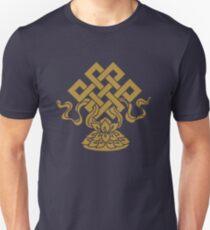 Eternal Knot, Lotus Flower, Buddhism, Auspicious Symbol Unisex T-Shirt