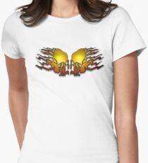 Skull Banners T Shirt Design  T-Shirt