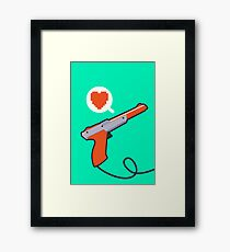 I HEART NES ZAPPER Framed Print