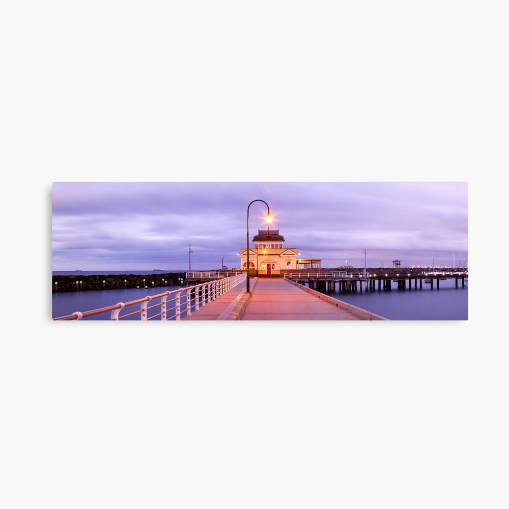 St. Kilda Pier, Melbourne, Victoria, Australia Canvas Print