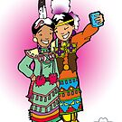#firstletmetakeaselfie Jingle dress dancer- print by mylittlenative