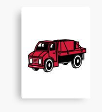 Car toys truck boxes truck truck vehicle Canvas Print