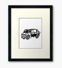 Car toys truck boxes truck truck vehicle Framed Print