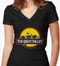 The Great Valley Women's Fitted V-Neck T-Shirt