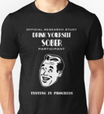 Drink Yourself Sober Research Test Subject T-Shirt