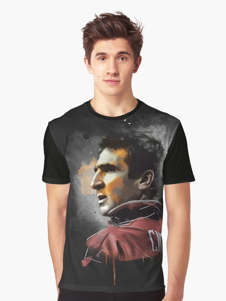 Eric Cantona Painting Graphic T-Shirt Front