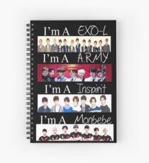 EXO, BTS, INFINITE, AND MONSTA X - I'M A FAN Spiral Notebook