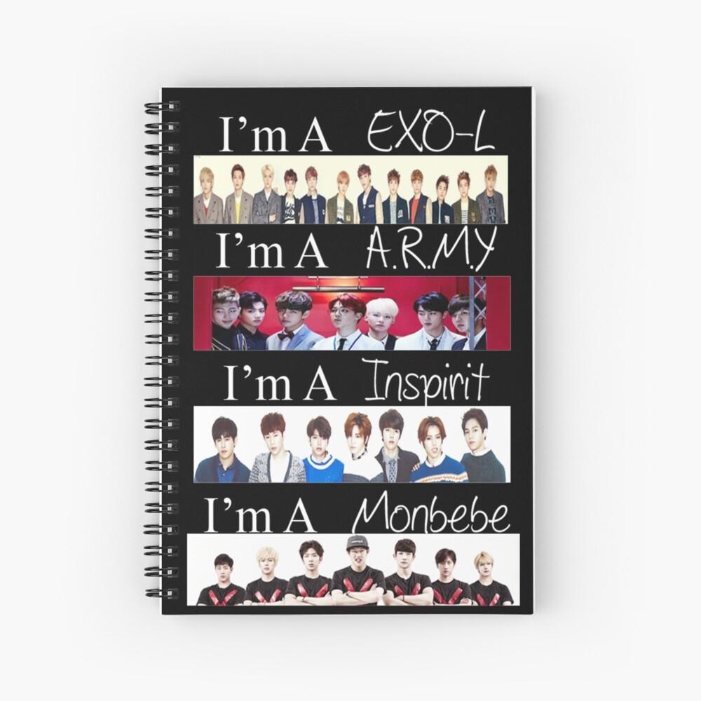 EXO, BTS, INFINITE und MONSTA X - Ich bin ein Fan Spiralblock