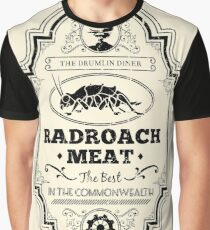 Drumlin Diner Radroach Meat (Black) Graphic T-Shirt