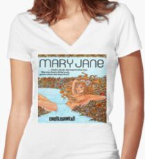 MARY JANE Women's Fitted V-Neck T-Shirt