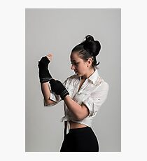 Cute female boxer Photographic Print
