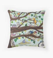 The Tire Swing Throw Pillow