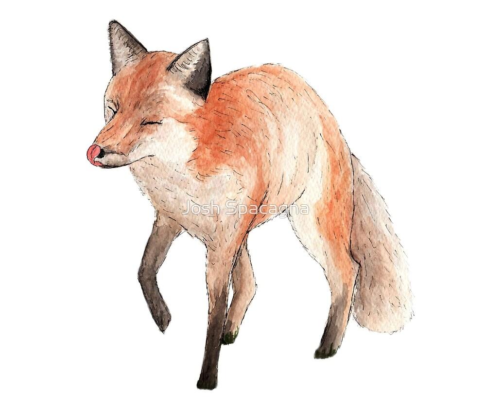 THE HAPPY FOX - Cute Watercolor. by Hojop25