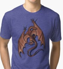 Smaug on your shirt! Tri-blend T-Shirt
