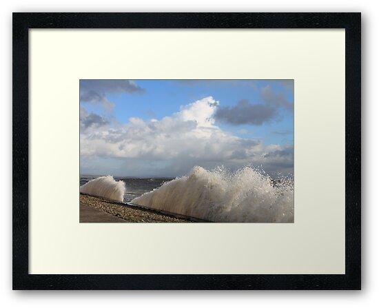 Crashing Waves Cumbrian Coastline by JDHPhotos