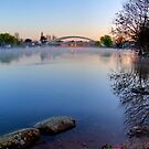 Misty Morning - Walton Bridge  by Colin  Williams Photography