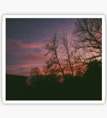 6:34, suburbs, winter Sticker