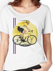 France Yellow Jersey Women's Relaxed Fit T-Shirt