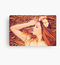 Pretty redhaired young women Canvas Print