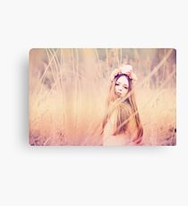 Attractive young woman with pretty hair  Canvas Print