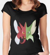 Syther #123 and Scizor #212 Women's Fitted Scoop T-Shirt