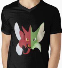 Syther #123 and Scizor #212 Mens V-Neck T-Shirt